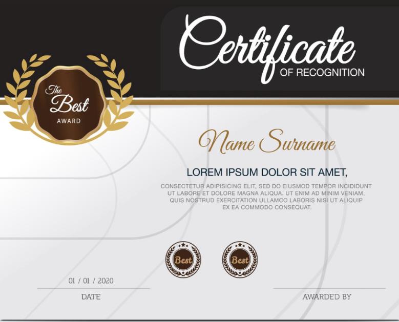 11x8.5 Certificate