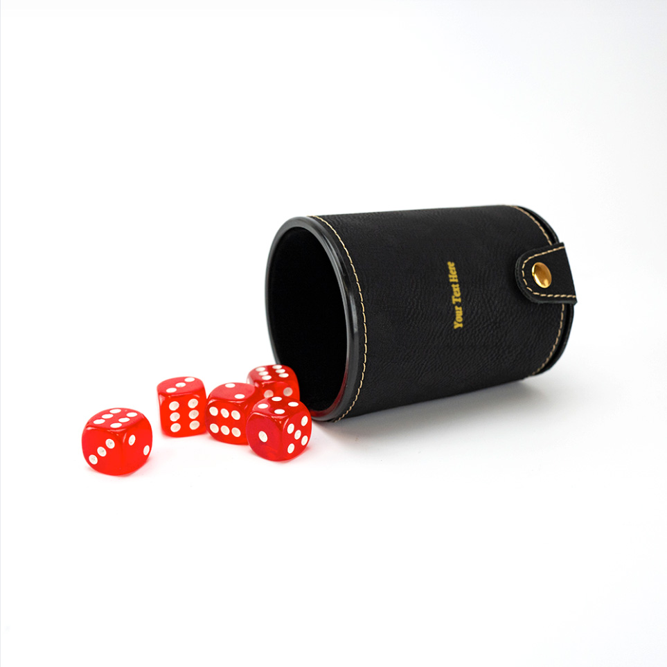 Laser Engraved Dice Cup