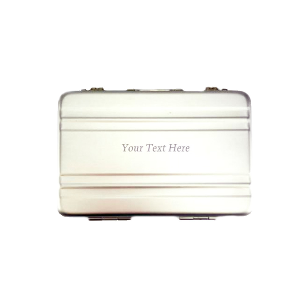 Laser Engraved Business Card Briefcase