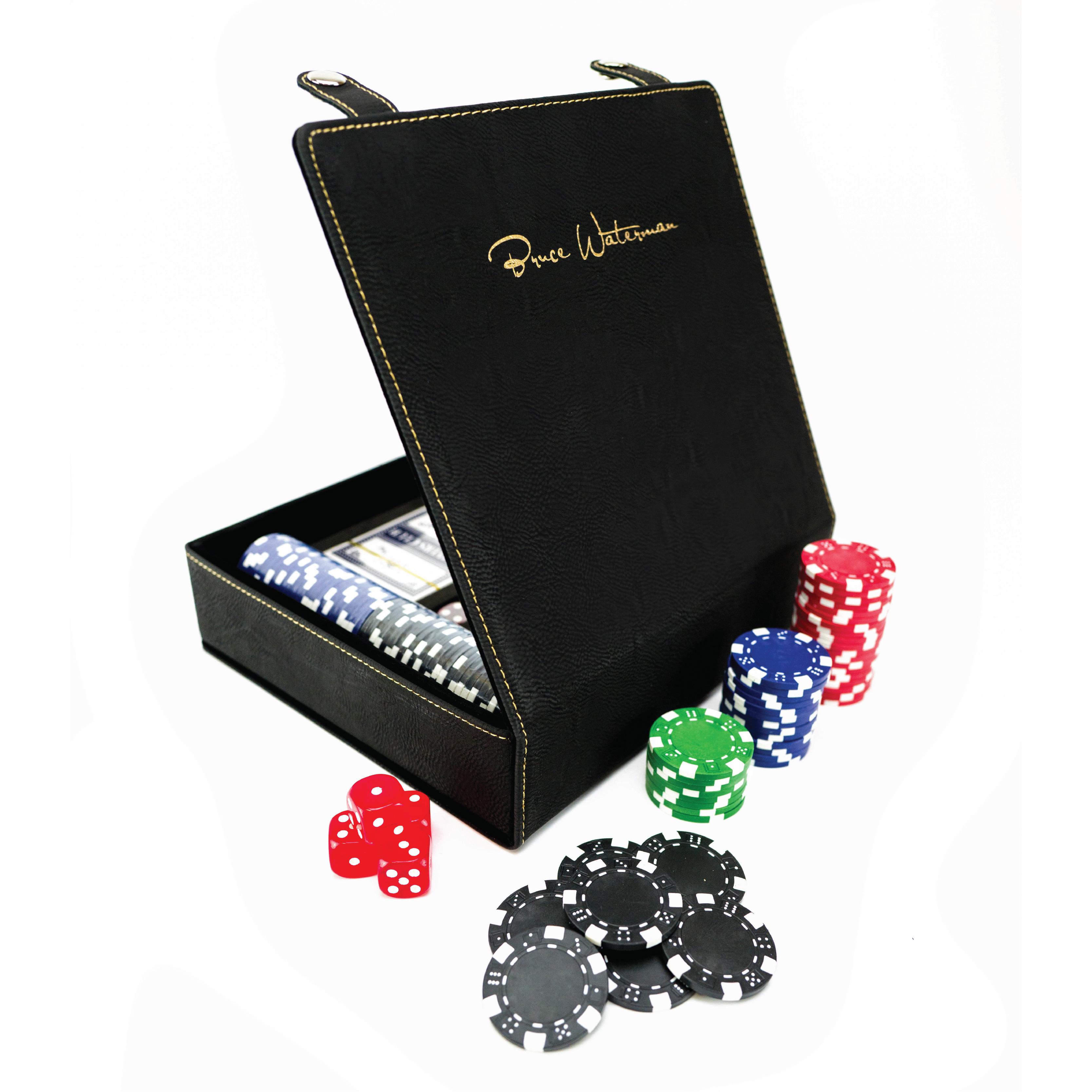 Laser Engraved Poker & Dice Set